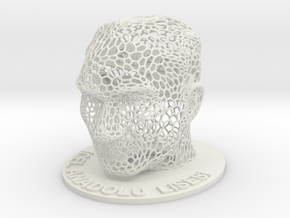 Customizable Name Plate in voronoi Ataturk bust in White Natural Versatile Plastic