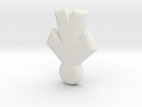 Small person in White Natural Versatile Plastic: Small