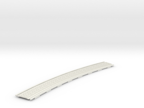 p-165st-long-curved-r2-tram-track-100-w-slim-2a in White Natural Versatile Plastic