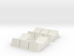 X-wing Rocker Switches 2 types in White Natural Versatile Plastic