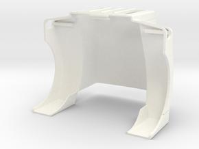 Peterbilt 377SBA Hood for TrueScale Cab in White Processed Versatile Plastic