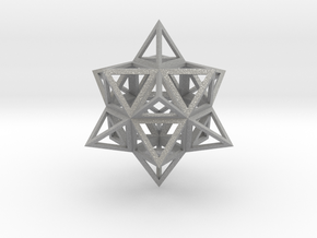 Wireframe Stellated Vector Equilibrium in Aluminum