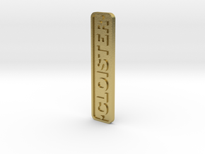 16mm Nameplate CLOISTER (Quarry Hunslet) in Natural Brass