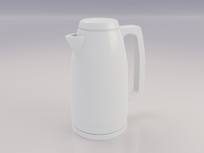 1:12 Miniature Water Boiler in White Natural Versatile Plastic