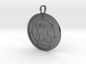 Halphas Medallion in Polished Nickel Steel