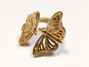 Aria2_size S in Polished Brass