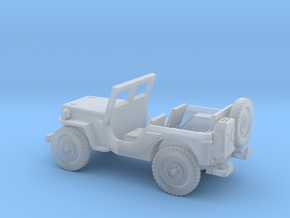 1/87 Scale MB Jeep in Smooth Fine Detail Plastic
