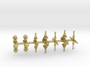 bay Dachaufsätze 3 - 1:120 TT in Natural Brass