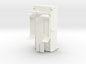 tippkasse runde sider med chassis in White Processed Versatile Plastic