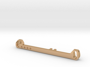 MC3 Wide Front End Stability Kit- Toe In Bar (#4) in Polished Bronze