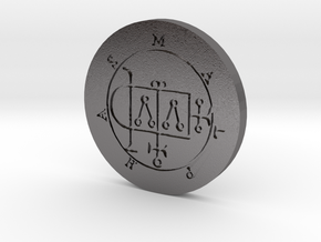 Malphas Coin in Polished Nickel Steel