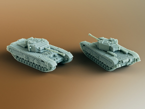 Black Prince (A43) British Tank Scale: 1:100 in Smooth Fine Detail Plastic