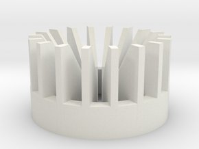 Turbo blade plug insert in White Natural Versatile Plastic