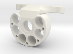AR60-Knuckle-all-in-one-6-holes-OD40 in White Natural Versatile Plastic