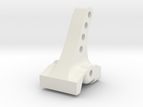 SSD RC Diamond Pro Rear Upper Link Riser in White Natural Versatile Plastic
