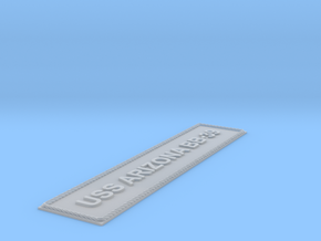 Nameplate USS Arizona large in Smooth Fine Detail Plastic