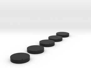 "5_Medium_Bases 1"" base in Black Natural Versatile Plastic"