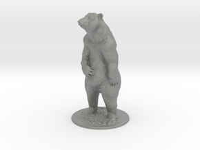 4 inch Grizzly Bear in Gray Professional Plastic