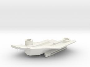 1/1000 Malachowski Class Right Lower Stern in White Natural Versatile Plastic