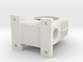 Gearbox in White Natural Versatile Plastic: Large