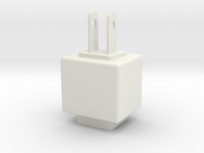 Detachable modular socket in White Natural Versatile Plastic: Small