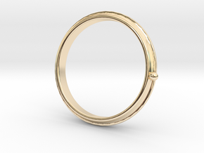 To the moon ring in 14k Gold Plated Brass