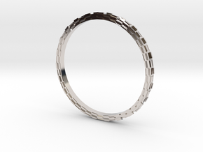 Hueco Mundo ring in Rhodium Plated Brass
