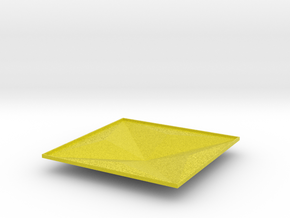 3d tile_2_B_yellow in Natural Full Color Sandstone