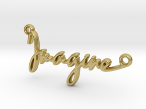 """""""Imagine"""" a strong word, a universal song. in Natural Brass"""