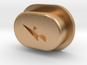 Y_mod_S Engraved Button Only in Natural Bronze