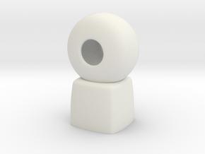 Cosplay Pendant Bell Cap in White Natural Versatile Plastic