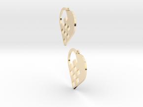 Swedish Heart Earrings in 14k Gold Plated Brass