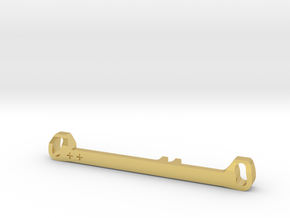 MC3 Wide Front End Stability Kit- Toe In Bar (#2) in Polished Brass