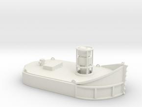 1/50th Nelson Log Bronc aka Boom Tender Tug Boat in White Natural Versatile Plastic