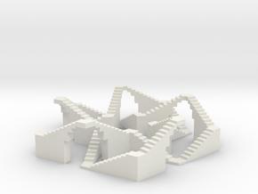 Walkable Five-crossing Knot in White Natural Versatile Plastic