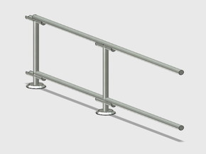 6' Straight Fence Fame-2-Bay (3 ea.) in White Natural Versatile Plastic: 1:87 - HO