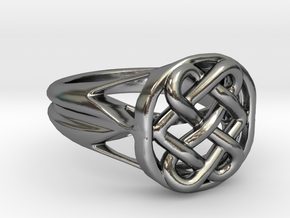 The Eternal Knot in Polished Silver: 7 / 54