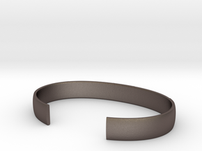 Jelling motif cuff - L in Polished Bronzed-Silver Steel