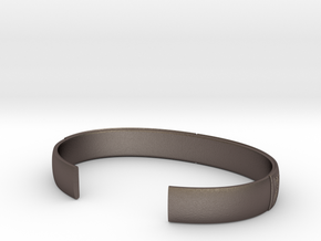 Borre motif cuff No2 - L in Polished Bronzed-Silver Steel