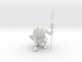 Tribal Man in White Natural Versatile Plastic