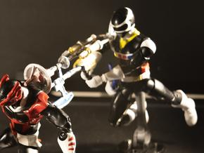 PRIS Quadro Blaster - Power Rangers in White Natural Versatile Plastic