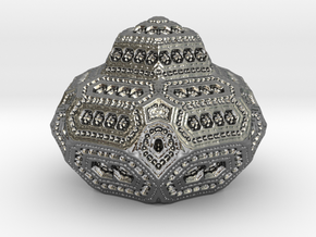 geometric ornament in Fine Detail Polished Silver