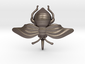 Bumblebee in Polished Bronzed-Silver Steel