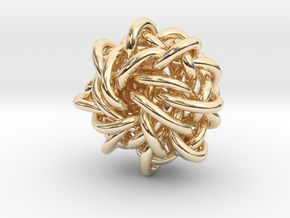 B&G Knot 17 in 14k Gold Plated Brass