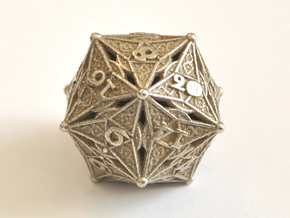 D20 Balanced - Celtic Cross in Polished Bronzed-Silver Steel