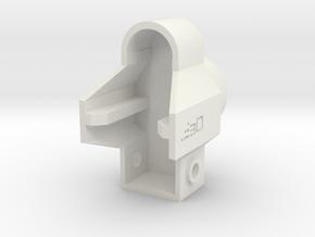 MP5 GBB End Cap for AR15 Buffer Tube V2 in White Natural Versatile Plastic