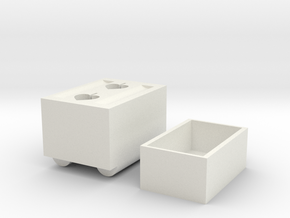 Shoe Cabinet in White Natural Versatile Plastic
