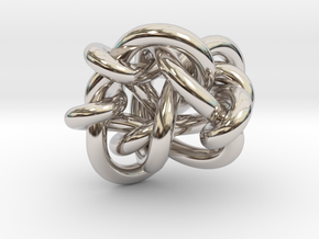 B&G tangle 03 in Rhodium Plated Brass