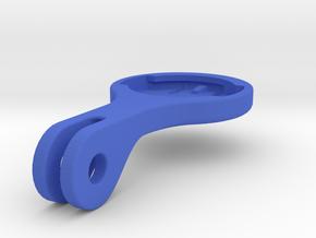 Wahoo Elemnt Blendr Mount - Short in Blue Processed Versatile Plastic