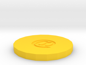Coasters in Yellow Processed Versatile Plastic